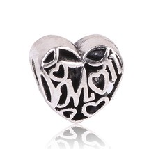 2018 Cute New Fashion 925 Silver Bead Openwork Mom Love Beads Fit Pandor... - $16.19