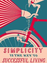 3514.Simplicity is the Key to success POSTER.Bicycle School Home Art decoration - $10.89+
