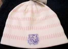 LSU TIGERS LOUISANA STATE UNIV NCAA WOMEN'S CUFFLESS KNIT BEANIE HAT SKI... - $11.59