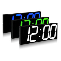 Remote Control LED Digital Wall Clock For School Home Decor Train Station - $142.52