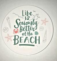 "Melamine Tidbit Appetizer Dessert Plates 6"" Set of 6 Beach House Shells ... - $498,67 MXN"