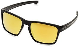 Oakley Men's Sliver XL Non-Polarized Iridium Rectangular Sunglasses, Matte Black - $79.19