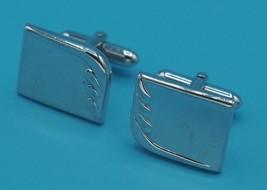 Vintage Swank Silver Tone Cufflink Set - $13.85