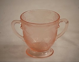 Vintage Dogwood Pink by Macbeth Evans Footed Open Sugar Bowl Depression ... - $8.90