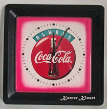 Coca-Cola Clock - 1994 Square Coke Clock - Quartz Wall Clock made in USA - £25.94 GBP