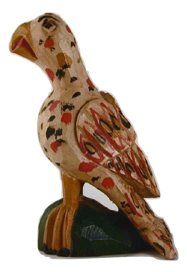 1996 Schimmel Like Carved Wood Polychrome Painted Eaglet Jonathan Bastian