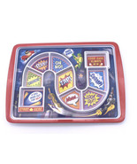Fred and Friends Dinner Winner Kids Plate Game Tray Fussy Eaters Super Hero - $9.90
