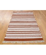 "3'x5'2"" Durie Kilim Hand Woven Flat Weave 100 Percent Wool Oriental Rug ... - $98.14"