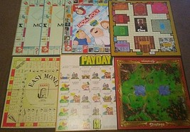 Lot of 7 Board Game Boards Replacement Craft Ideas Monopoly Payday Clue - $7.87