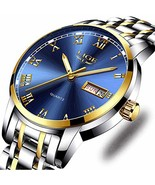 Watches, Mens Full Stainless Steel Luminous Quartz Watch Fashion Casual ... - $39.09