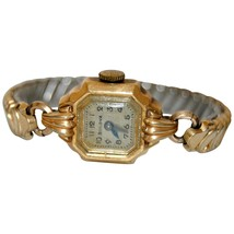 BULOVA GOLD Watch 10k Goldfilled 1960s Ladies Bracelet Cocktail Wristwatch  - $90.00
