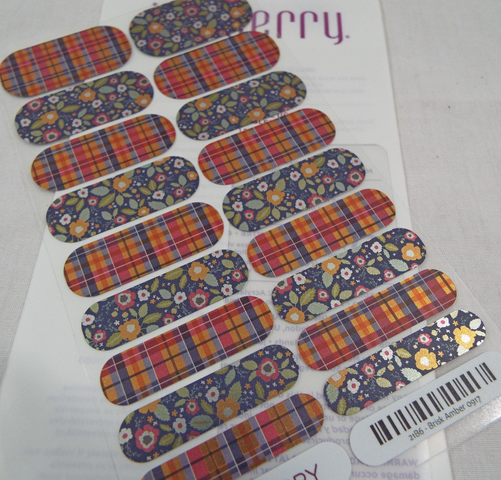 Primary image for Jamberry Brisk Amber 0917 21B6  Nail Wrap Full Sheet