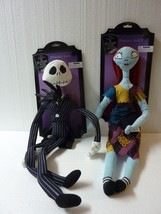 "24"" large NIGHTMARE BEFORE CHRISTMAS Posable JACK & SALLY plush DISNEY D... - $33.85"