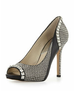 MICHAEL KORS Etta Open Toe Pump Fierce Studs & Snake 9.5 women - $43.35