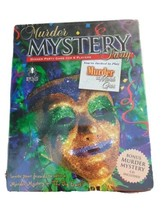 Sealed MURDER MYSTERY PARTY GAME for 8 players MURDER AT MARDI GRAS Bran... - $19.75