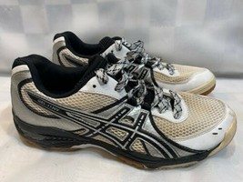 ASICS Gel-1130V Volleyball Women's Shoes Size 9.5 White Silver B953N - £20.01 GBP