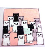 PAUL & JOE Mini towel Face washer Washcloth Cats Pink Cotton Auth New - $19.79