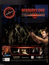 Original 2003 Print Ad Resident Evil DEAD AIM Capcom Video Game Advertis... - $7.59