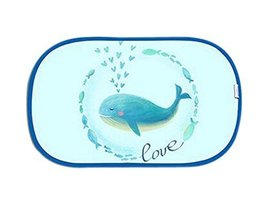 Lovely Cartoon Car Curtains Sunshades Sunscreen Insulation Sunshades, Whale