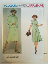 Vogue Paris Original Sewing Pattern Molyneux 1372 Jacket & Dress Size 12... - $17.99