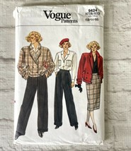 Vogue Sewing Pattern 9424 12 14 16 Jacket Pants Skirt Blouse FF Uncut - $9.90