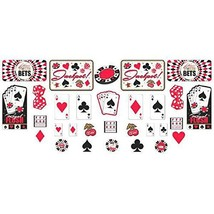 amscan Casino Party Mega Value Pack Cutout Set,Multicolor,Multi Size - $14.80