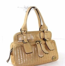 Auth Chloe Butter Cup Yellow Leather Satchel Metal Multiused Hand Should... - $117.81