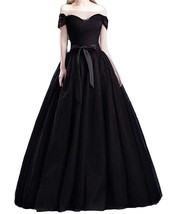 Off Shoulder Evening Party Dresses Prom Dress Maxi Tulle Ball Gowns with... - $148.99