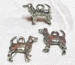STANDING DOG FINE PEWTER PENDANT CHARM - 5x14.5x14mm