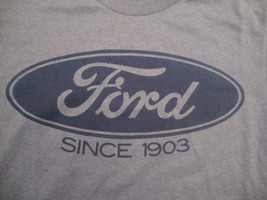 New FORD since 1903 muscle car hot rod mustang galaxie blue 50/50 T Shirt S - $12.71