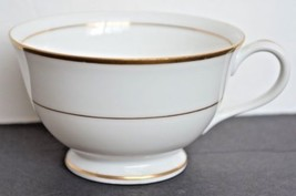 M Japan Fine China Footed White Tea Cup Gold Trim 6 Available Price for One - $5.99