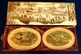Vintage Avon Stay Beautiful Soaps of 1876 Winterscapes Currier & Ives Pr... - $9.89