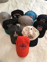 LOT of 10) *SUPER BOWL* BALL CAPS / HATS--ONE SIZE FITS ALL / SNAPBACK-1... - $62.99