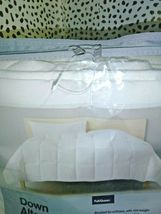 """White Solid Down Alternative Comforter Full/Queen Made by Design 90"""" x 94"""" SEAL  image 5"""