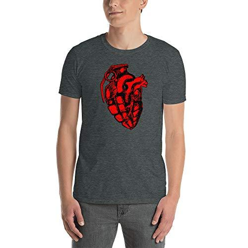 Cool Love Short-Sleeve Unisex T-Shirt Heart Grenade Dark Heather