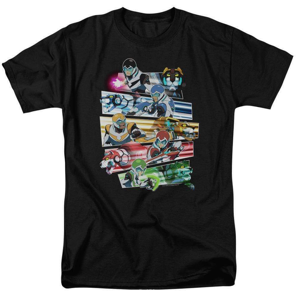 Voltron cast t-shirt Animated TV series retro 80s graphic tee DRM325