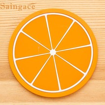 Fruit Coaster Colorful Silicone Cup Drinks Holder Mat Tableware Placemat... - €3,64 EUR