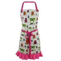 Cate Chestnut Hoot Hoot Pink 2-in-1 Owl Apron - $25.00