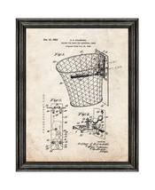 Support for Hoops for Basketball Games Patent Print Old Look with Black ... - $24.95+