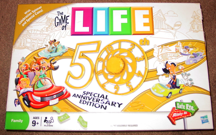 Primary image for LIFE GAME OF LIFE 50TH ANNIVERSARY EDITION 2010 MILTON BRADLEY HASBRO COMPLETE