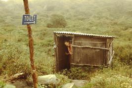 35mm Slide Annapurna Sanctuary Mountains Nepal Bathroom (#85) - $4.75