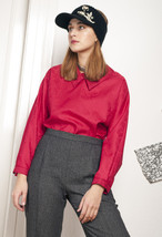 70s vintage shiny red blouse - $28.91