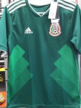 adidas Youth Mexico 18/19 Home Green Jersey Size Large De Niño - $68.31