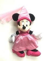 Disney Parks Minnie Mouse Princess Pink Satin Dress Plush Stuffed Disney... - $15.83