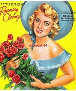 VINTAGE UNCUT 1959 ROSEMARY CLOONEY PAPER DOLLS~#1 REPRODUCTION~FOLDER V... - $17.50