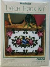 "CARON WonderArt Latch Hook Kit - 24"" X 34""- Elegant Roses #4385 NEW IN BOX - $29.69"