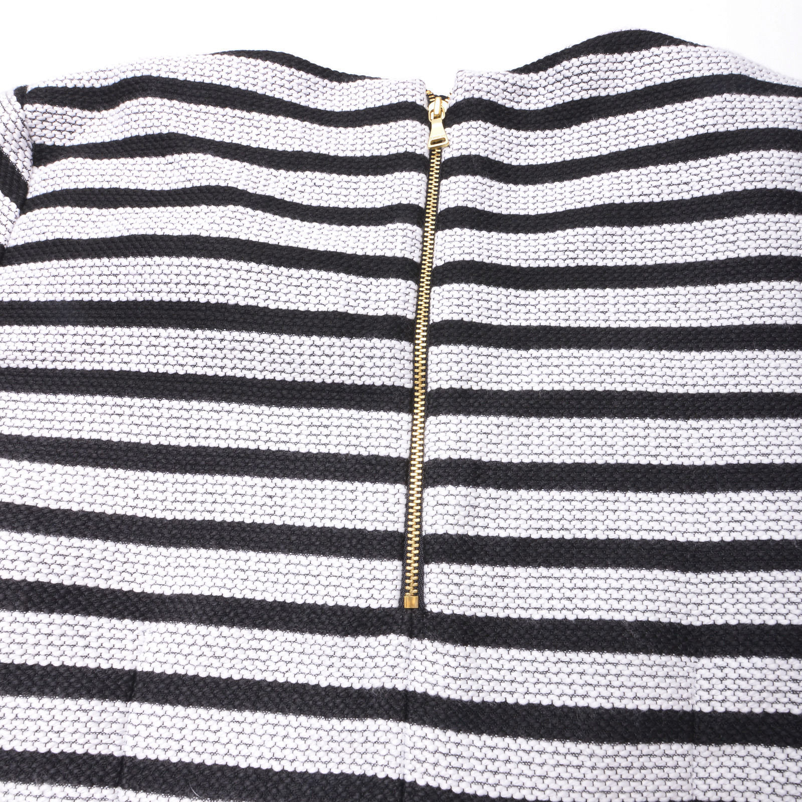 NEW EXPRESS Womens SHIRT TOP Size Medium Black White Zipped Back image 6
