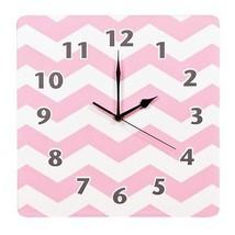 Trlb-100926-trend Lab Chevron Wall Clock Pink Sky - $40.90