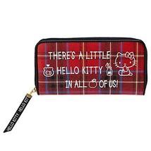 Hello Kitty long wallet Hello Kitty Tartan Red - $59.36