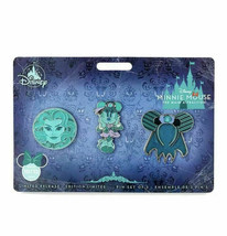 Minnie Mouse Main Attraction: Haunted Mansion October Pin Set of 3 In Hand - $49.49